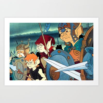 Angry Elves  Art Print by Rotton Cotton Candy  - $17.68