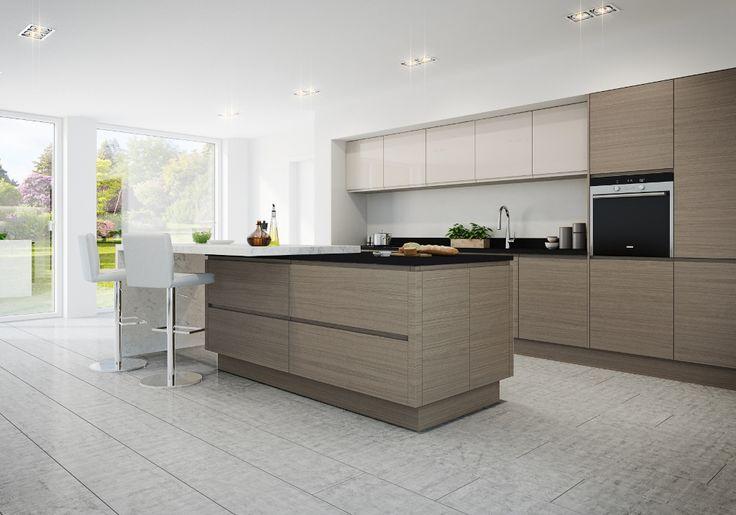 Burbidge S Isala Kitchen In Warm Grey Oak With Malmo