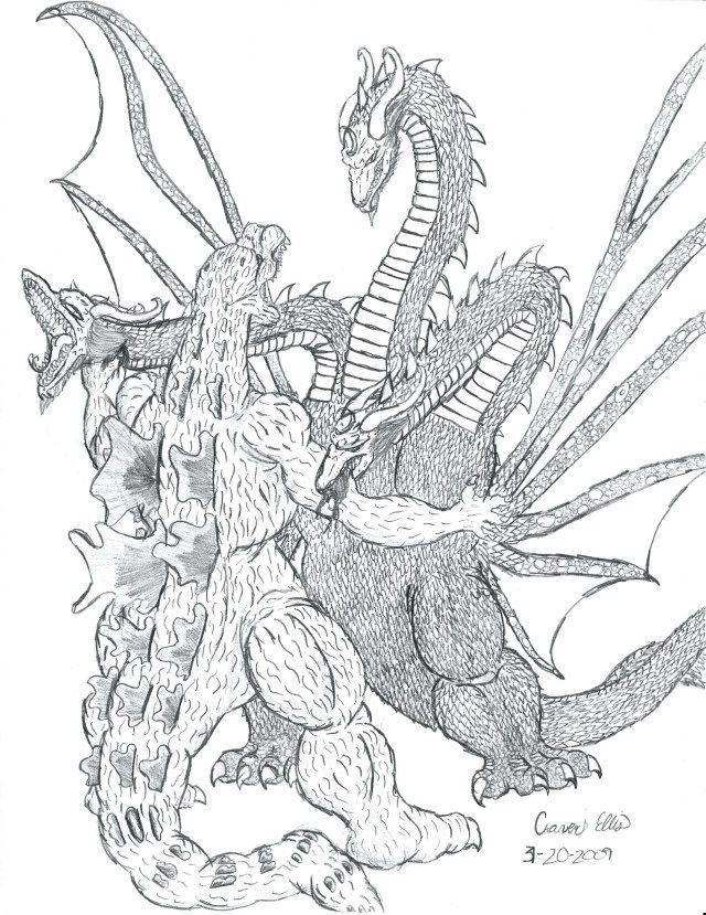 30+ Wonderful Photo of Godzilla Coloring Pages Monster