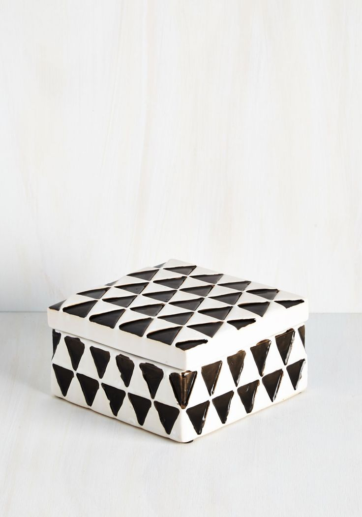Trinkets For the Best Jewelry Box. Storing your rings and brooches has never bin better than it is with this ceramic jewelry box on your dresser! #multi #modcloth