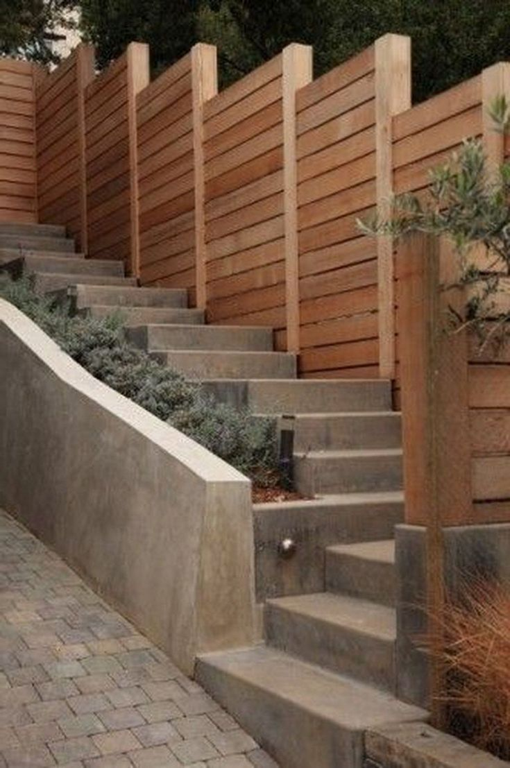 36+ Cool Sloped Yard Fence Ideas For Any Houses - Page 6 ...