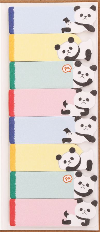 kawaii animal panda bear index stickers bookmark sticker