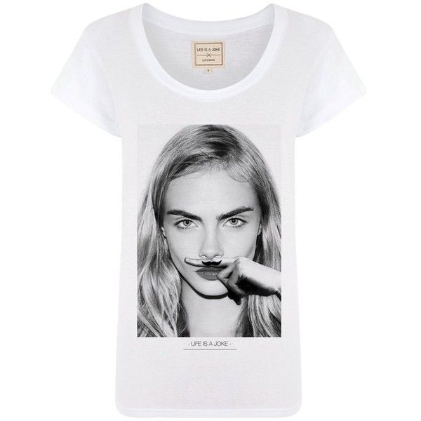 Eleven Paris Cara Mustache Tee found on Polyvore