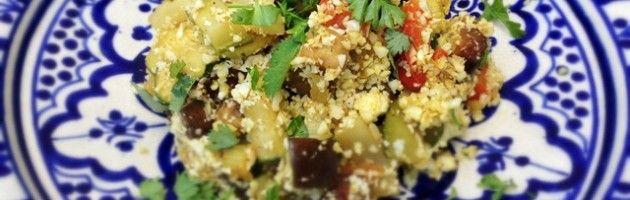 'Couscous' van bloemkool met verschillende groenten - Oerkracht voedingsadvies