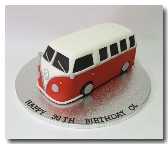 172 Novelty Cake - VW camper van cake £70