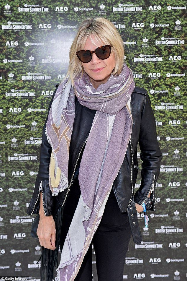 Brave: Zoe Ball, 46, put on a brave face as she made a rare public appearance at the BST Hyde Park concert on Friday