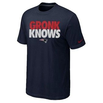 Official New England Patriots ProShop - Gronk Knows Tee-Navy