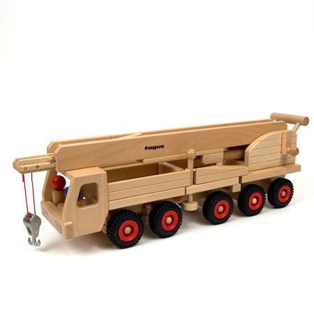 Serious wooden toys. Fagus Wooden Cars and Trucks