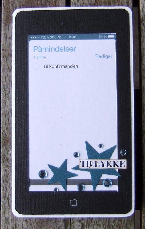 Iphone konfirmationskort. Charlotte Ravn