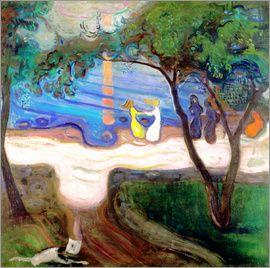 Edvard Munch - Dancing on the sea beach