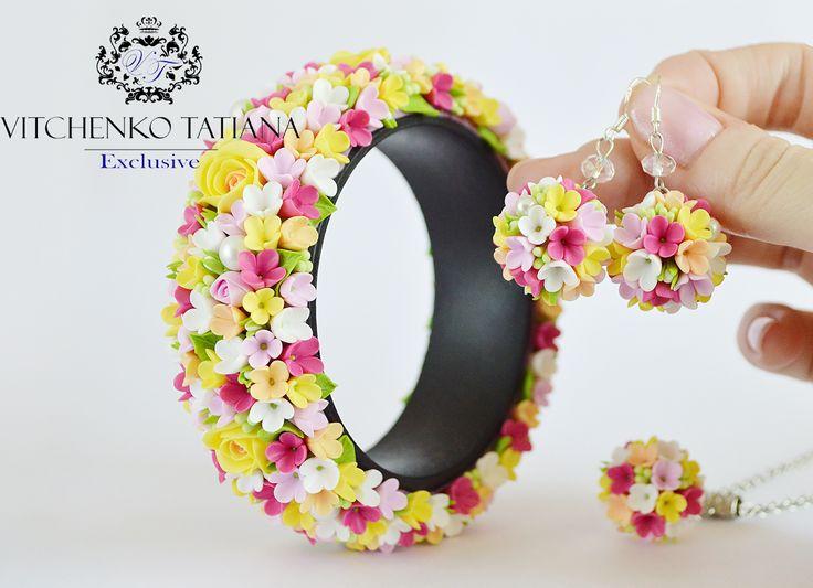 Jewelry set with florets #florets #flowers #jewelry #handmade