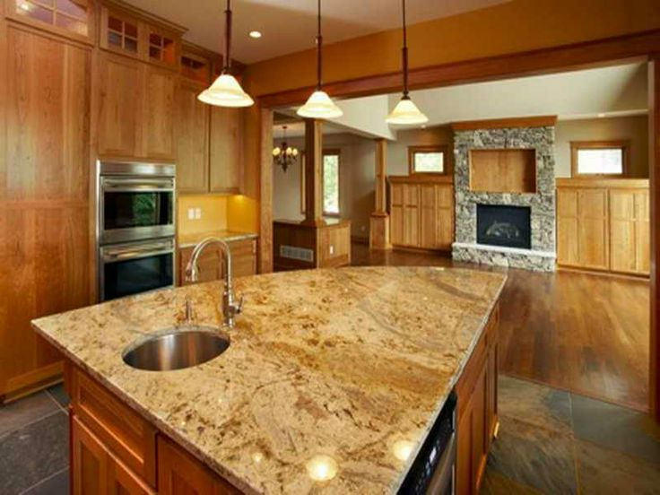 White Spring Granite  Exactly What Iu0027m Picturing With Dark Slate Floors · Best  CountertopsKitchen ...