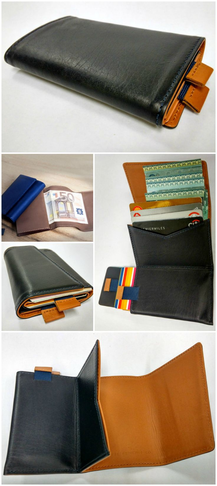 Leather Slimfold Wallet - War and Peace by VIDA VIDA 6KMXB