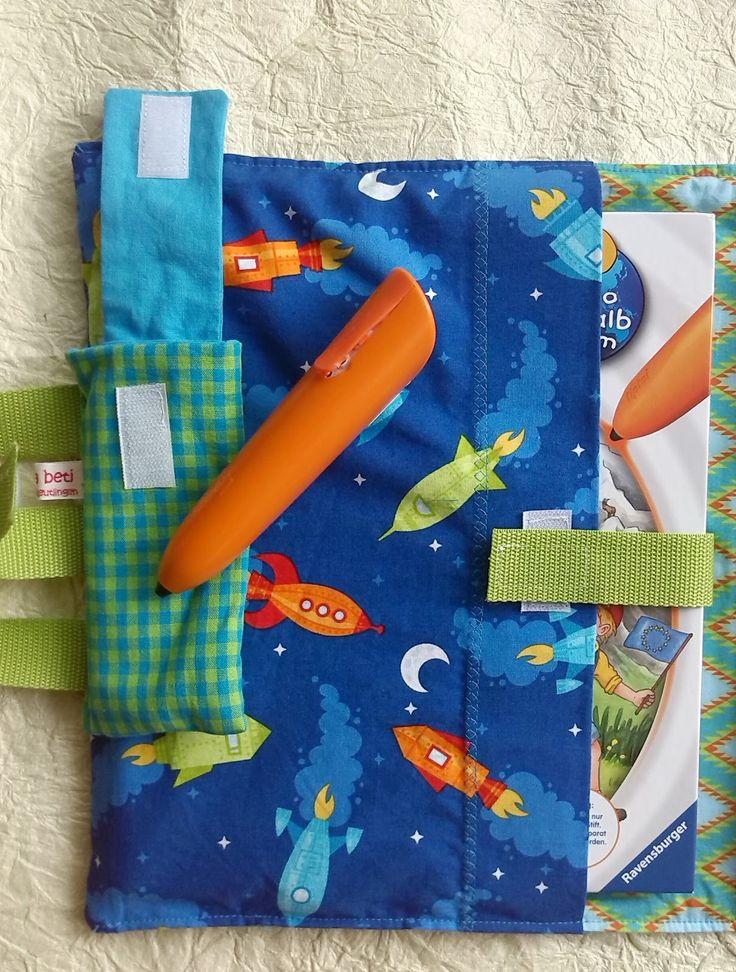 Mein Neffe und tiptoi-Besitzer...   braucht eine Mappe oder Tasche für zwei Bücher und ein Mäppchen für den tiptoi. Besonders auf Reisen ka... (Diy Baby Spielzeug)