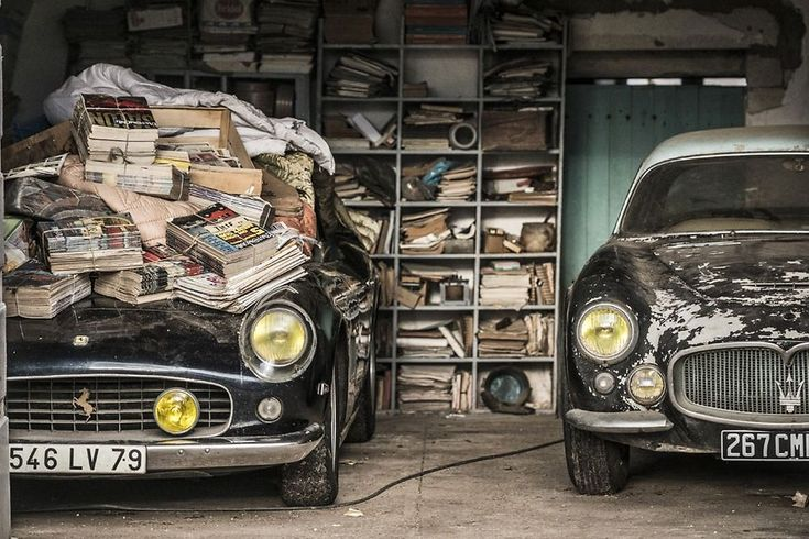 1961 Ferrari 250 GT SWB California Spider et 1956 Maserati A6G Gran Sport Frua. © Collection Baillon