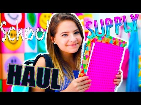 School Supply Haul + Giveaway! (CLOSED) - YouTube