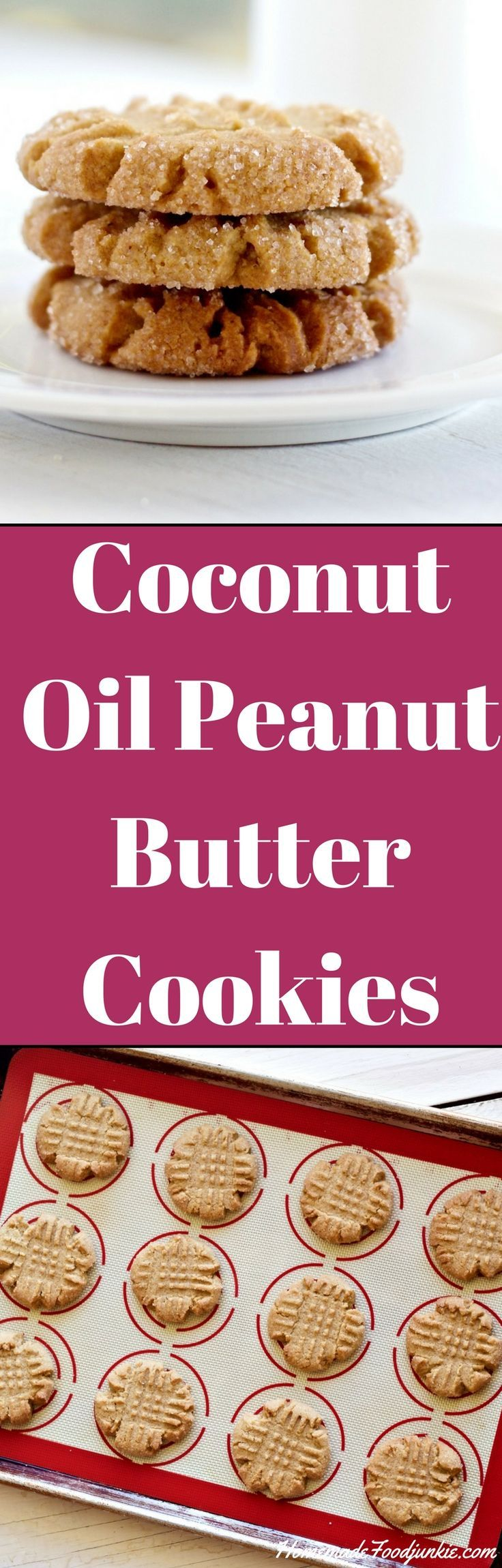Coconut Oil Peanut Butter Cookies America's favorite cookie-Dairy free!