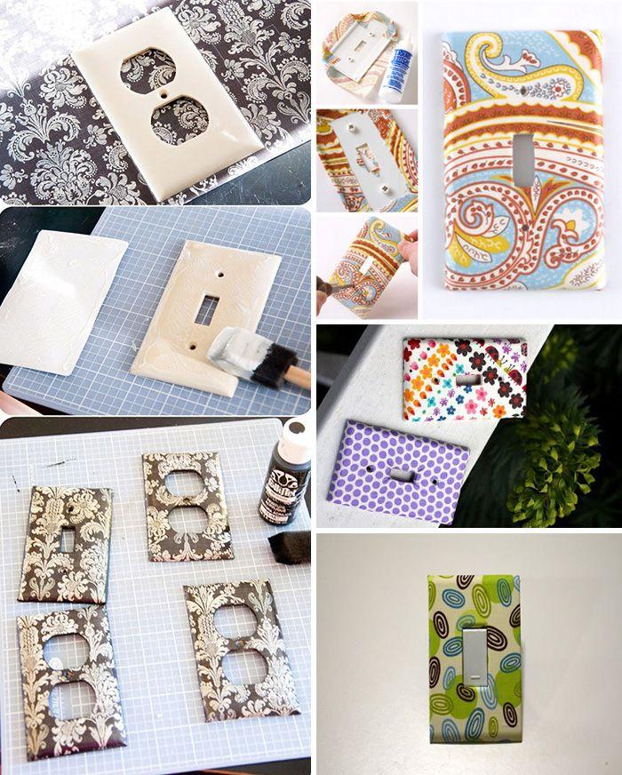 interruptor tecido Como decorar gastando pouco: Ano novo, casa nova com dicas de decoração baratas, rápidas e fáceis de fazer!