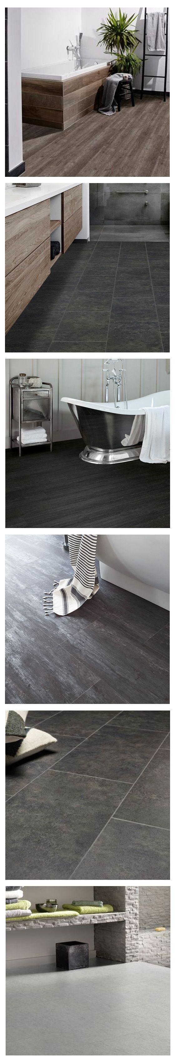 Pvc vloer tegels betonlook en houtlook inspiratie voor de badkamer. Perfecte geleider van vloerverwarming. Past zowel in een modern interieur als een industrieel Interieur. Bestel tot 6 gratis vloerstalen op onze website. #pvcvloer #pvc #vloer #vloeren #pvcvloeren #badkamer #woonkamer #keuken #tegels #klik #licht #donker #taupe #bruin #grijs