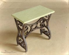 mini tables, with cast iron look - other types of tables - not much of a tutorial, more like ideas