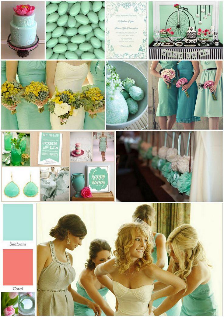 Una boda chic: Colores de moda: coral y verde menta