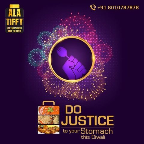 Festive season and no good food! Boht na-insaafi hai. Do justice to your stomach by ordering Tiffin from Alatiffy.com. Contact +918010787878 to order now...