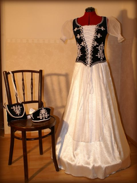 díszmagyar ruha kék bársony, regeru, meska.hu #hungarian #wedding #dress