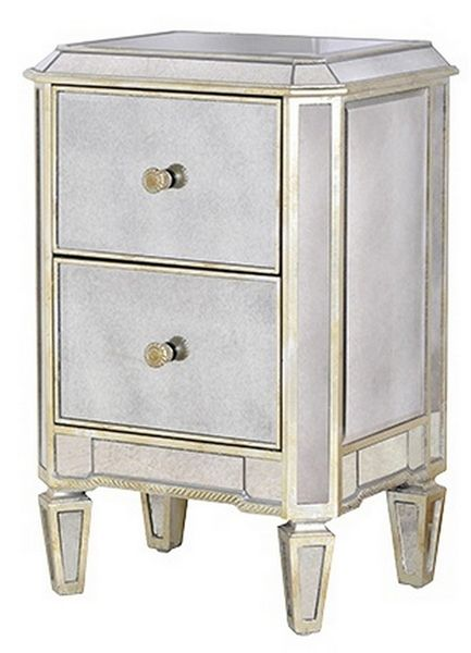 Show details for Venetian Mirrored Bedside Cabinet