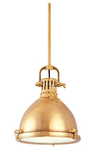 Nautical Brass Pelham Pendant | Hudson Lighting