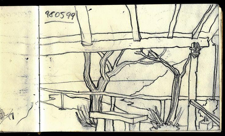 Colle d'Orano approdo della Marina Elba island 1995 - Sketcher Riccardo Giunti sketchbook summer 2002. #riccardogiunti