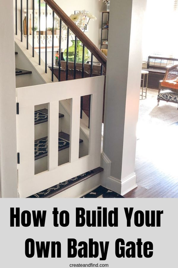 How To Easily Build Your Own Diy Baby Gate Diy Baby Gate Diy Gate Diy Furniture Plans