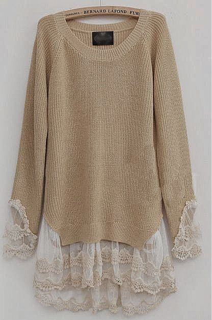 I am not a fan of this color, I would prefer something brighter or a little more navy, not I love the way this sweater layers with the lace.