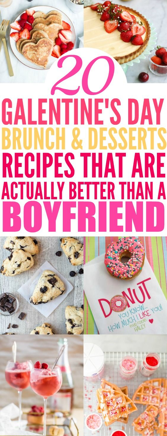 I think this is a brilliant party idea! I love the girl power and celebrating with my best friends! Galentine's Day is such a brilliant idea because no matter if you are in a relationship or not you can always use a good excuse to party with your closest friends and who doesn't love brunch and dessert! This list is so genius with recipe ideas and with bonuses of cocktails! Make a mimosa bar and the food will be insanely delicious! I'm so excited to throw my own Galentine's Day...