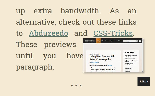 jQuery preview URL with Mini Preview plugin - a nice solution, that implements showing thumbnail of the link on mouse over.