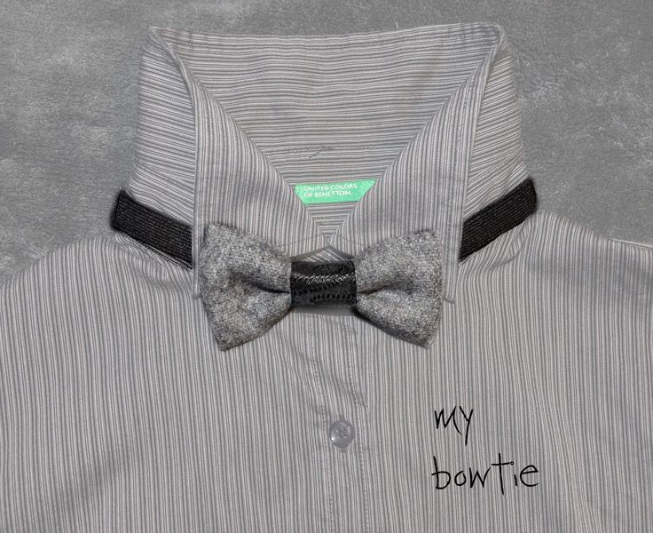 grey bowtie by mvoug