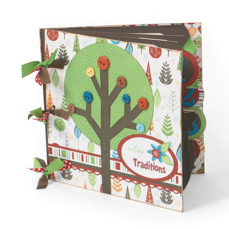 Holiday Traditions 8x8 Album - Scrapbook.com - Sweet mini album. #scrapbooking #minialbums #holiday #imaginisce