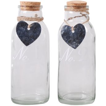 EUR 1.69 - Deco fles met kurk+zinken hart - Action Nederland B.V.