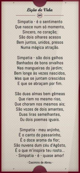 Casimiro de Abreu - Simpatia