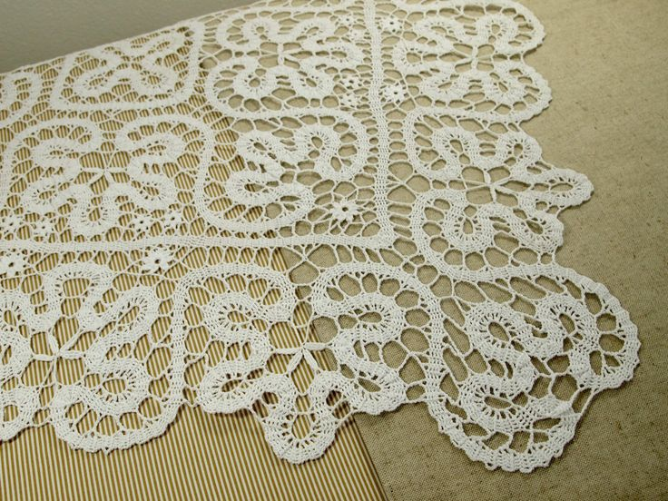 Brugges crochet masterpiece tablecloth by VerLen Crochet; READY TO SHIP by VerLenCrochet on Etsy