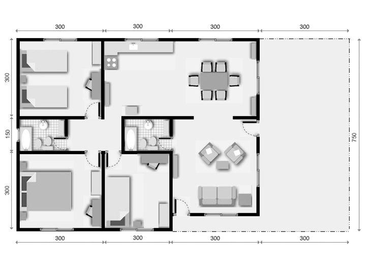 M s de 1000 ideas sobre planos de casas 3d en pinterest - Plano de la casa ...