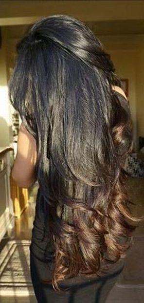 Shiny beautiful long hair