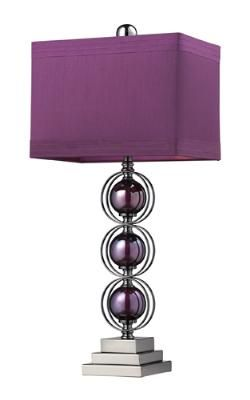 Table lamp with a purple/black nickle finish!