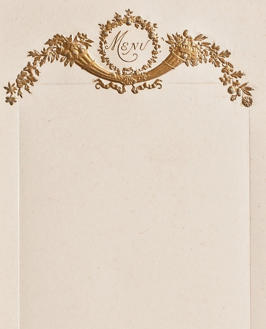Early 1900s Gilt French Menu