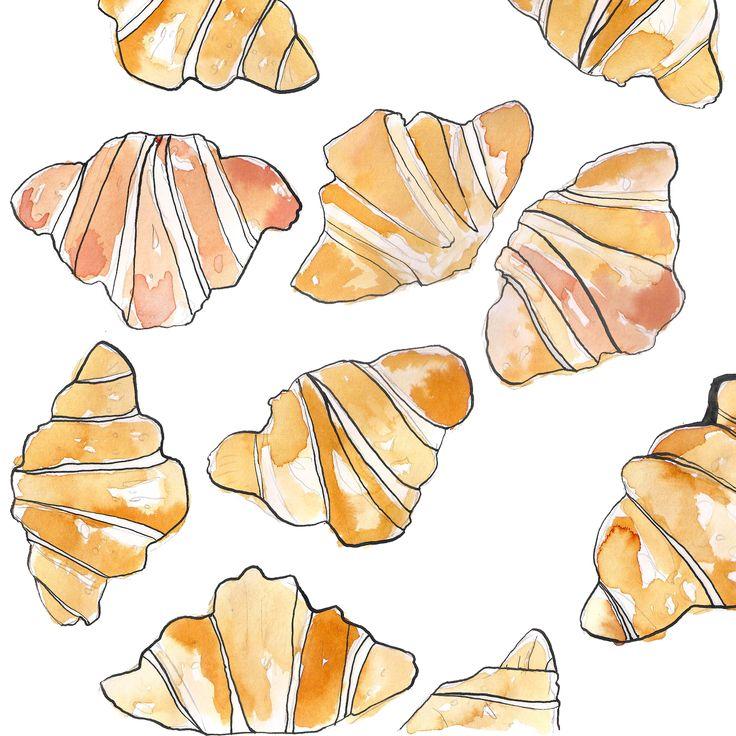 croissants - Marie Bodié illustration