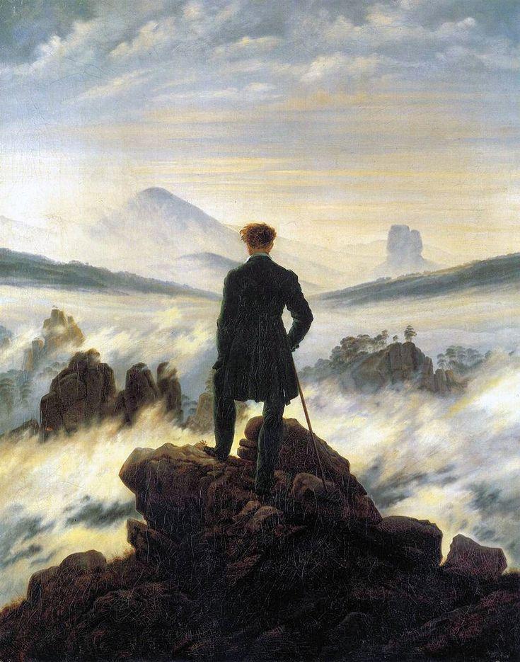 Caspar David Friedrich - Voyageur contemplant une mer de nuages (1818)