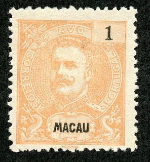 "Macao (Macau) 1898-1903 Scott 76 1a orange ""King Carlos"""