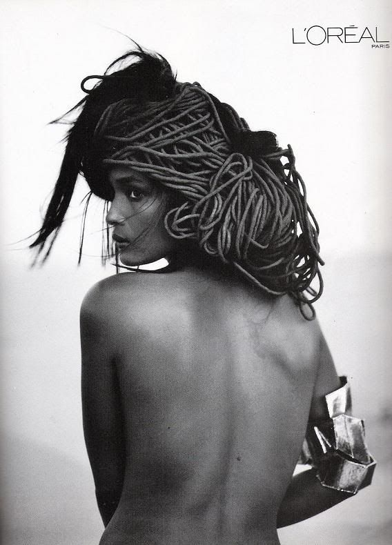 by Steven Meisel, Model: Liya Kebede