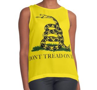 Contrast Tank Don't tread on me, #gadsdenflag #donttreadonme @donttreadonme