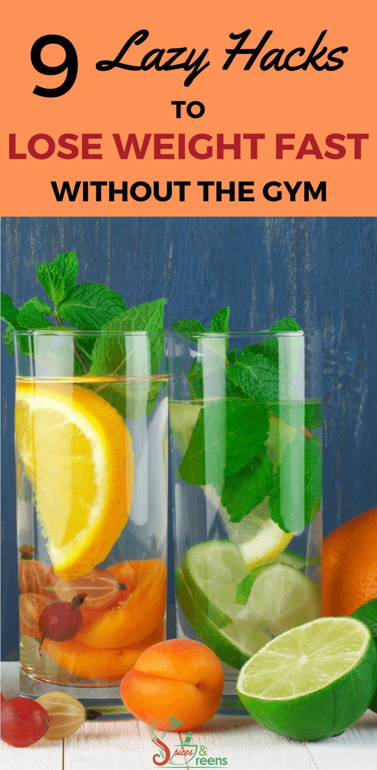 How to lose weight fast and easy with 9 tips, tricks and lazy hacks. Looking to shed some extra weight after baby without working out at the gym? By making these small changes one by one, you can lose weight and get healthy in just weeks. Includes tips on how to drink water for optimal weight loss, smoothies, fat burning foods, what to eat for breakfast, meal plan and more to help you lose weight fast and get closer to a flat tummy.