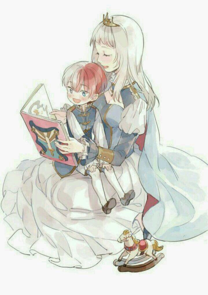 Todoroki Shouto And His Mother Boku No Hero Academia